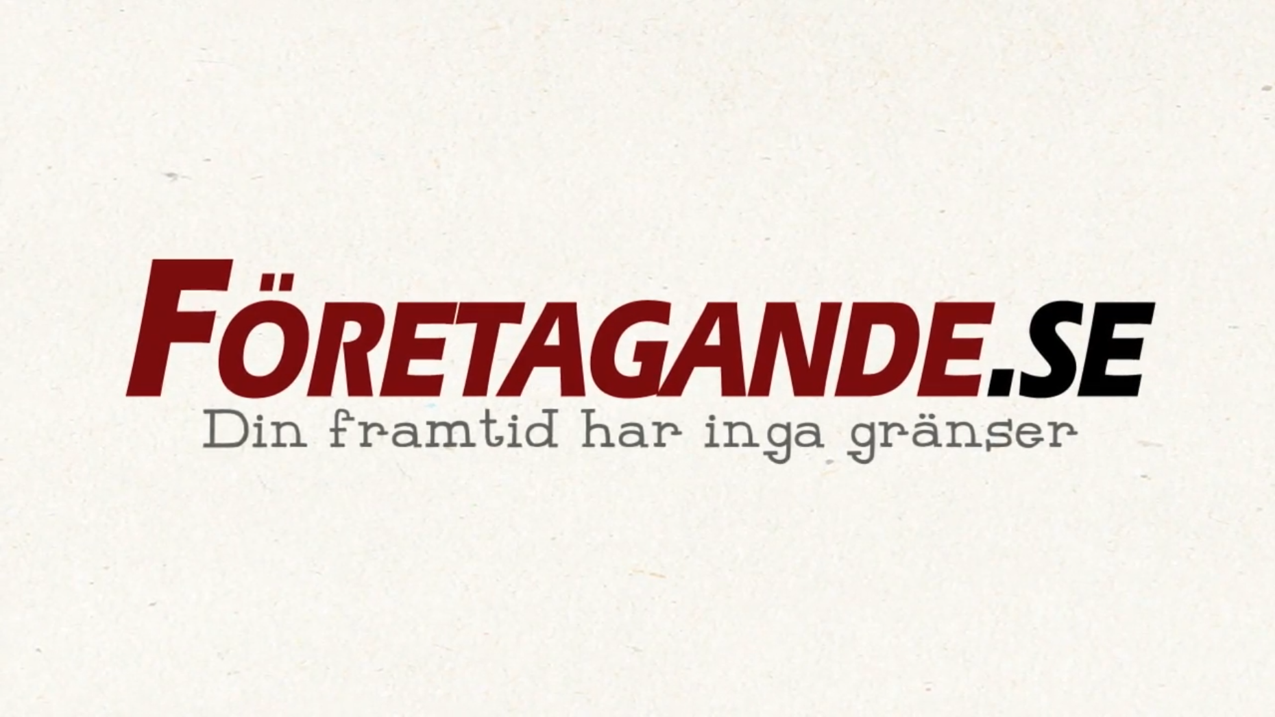 Commercial Voiceover for företagande.se (Swedish)